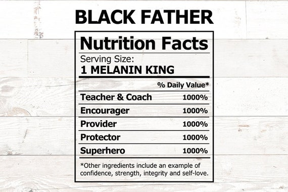 Free Our father's day cards honor dads with styles from traditional to trendy, and you can choose from options like photo layouts, rib ticklers, classic illustrations, and fancy. Black Father Svg Nutrition Label Black King Svg Black Etsy SVG, PNG, EPS, DXF File