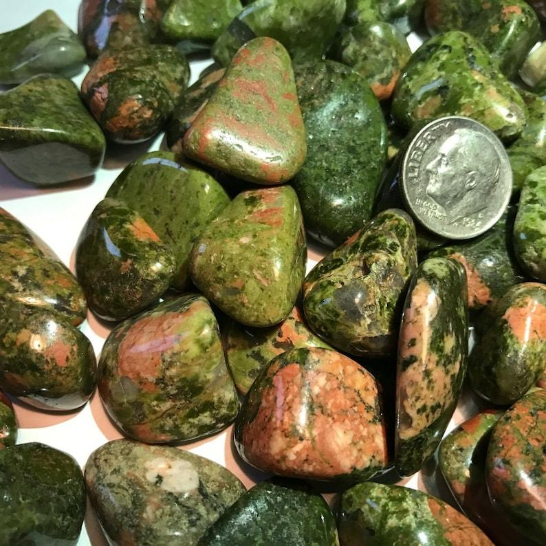 40 UNAKITE *Tumbled and Highly Polished* 12 Pound Lots ~ Gemstones