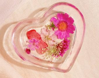 magenta • floral jewelry dish