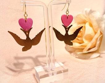 pink & brass sparrows