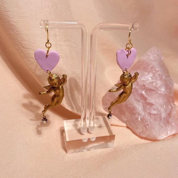 lavender cupid dangles
