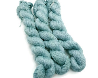plant-dyed, hand-dyed merinoswool with mulberry silk from BC yarn, 50g strand -aquamarine-