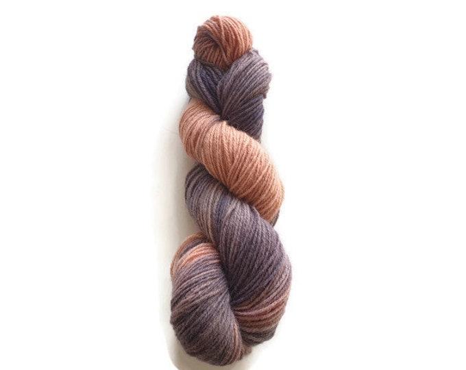 Plant Dyed Organic Sock Yarn 100g Strand, Purple, Pink Finkho -Dark Girly-
