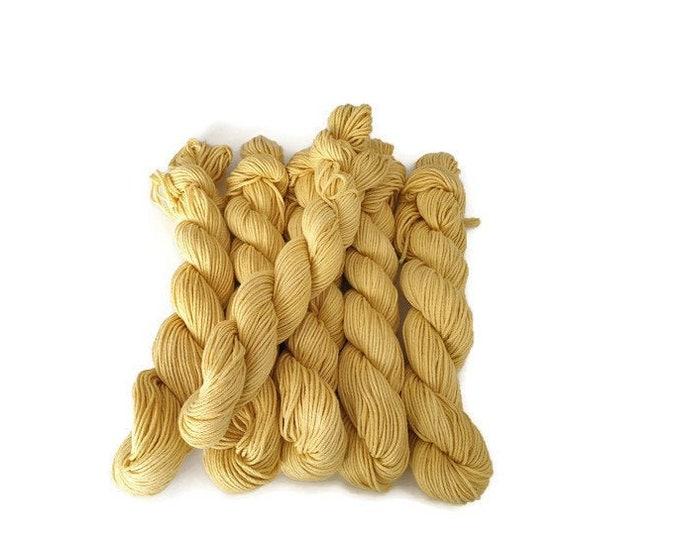 Plant Dyed GOTS Organic Cotton, Yellow, 50g Strand, -Sunny-