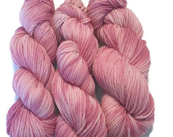 Plant Dyed Organic Merino Wool 100g Rosy -Pink Candy-