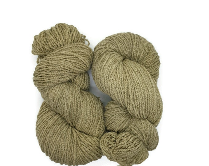 plant-dyed organic merino wool, grey-green, 100g strand, Finkho - camouflage