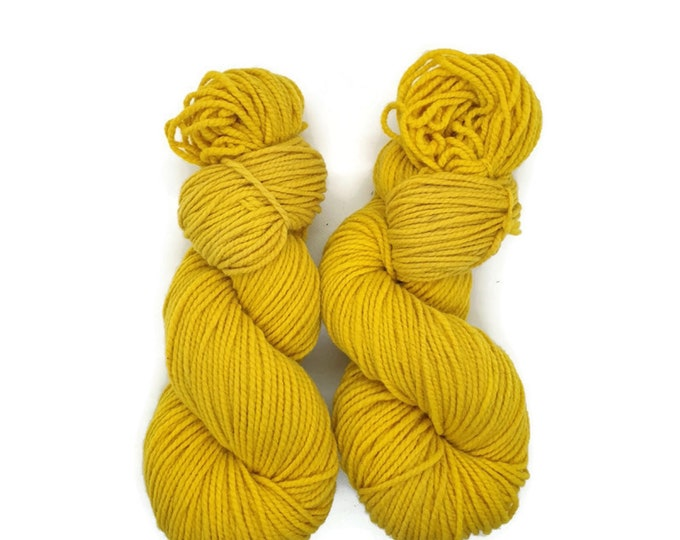 plant-dyed organic merino wool, yellow, 100g strand, Finkho sunshine-