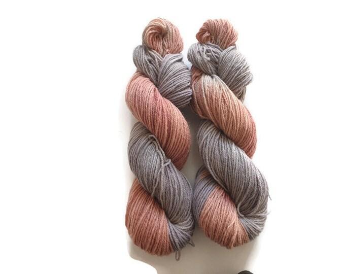 Plant Dyed Organic Sock Yarn 100g strand purple, pink