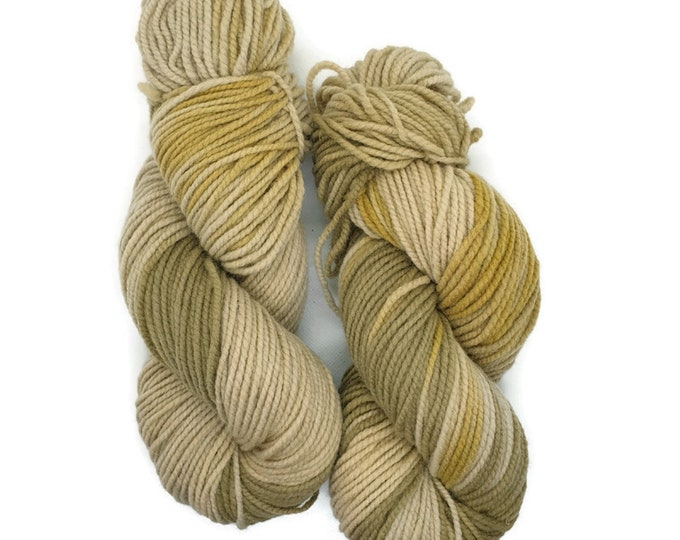 plant-dyed organic merino wool, beige, green,yellow, 100g strand, Finkho -pure nature