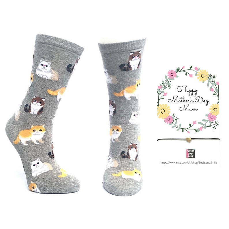 Mothers day gift Socks Heart Bracelet Set yoga tie-dye dog cat broccoli odd Outfit best funny top gift ideas for her present cute special