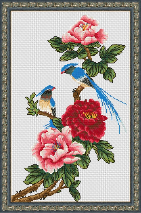 Roses in basket Limited edition Cross Stitch Gift Idea. Cross Stitch Hand Embroidery Kit with Pattern