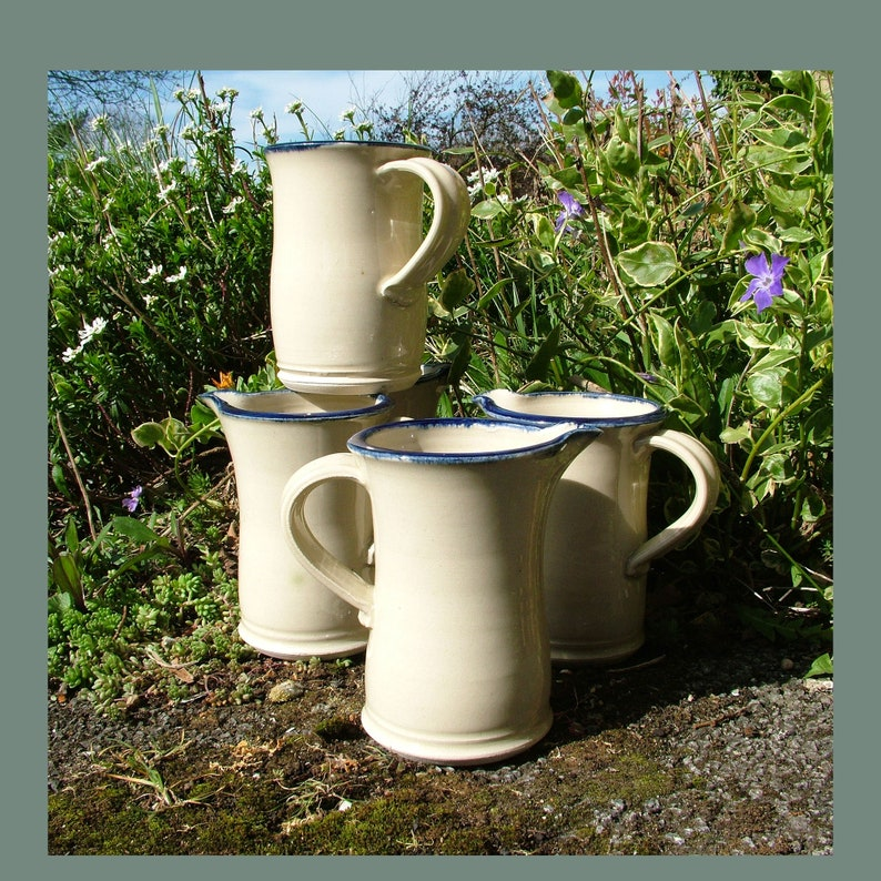 Thrown pottery one pint jug image 0