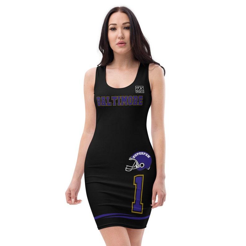 Baltimore Themed Superfan Ravens Dress