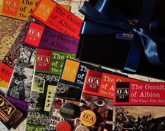 The Occultaria Of Albion- The First Heptarchy Gift Set! Seven Volumes of O.A & Official Badge Pack