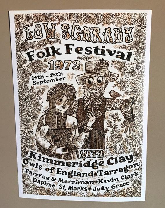 Low Scaraby Folk Festival 1973 Poster
