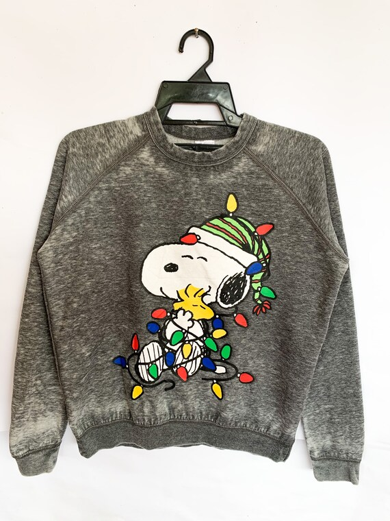 Peanuts Snoopy Merry Christmas Sweatshirt medium … - image 1