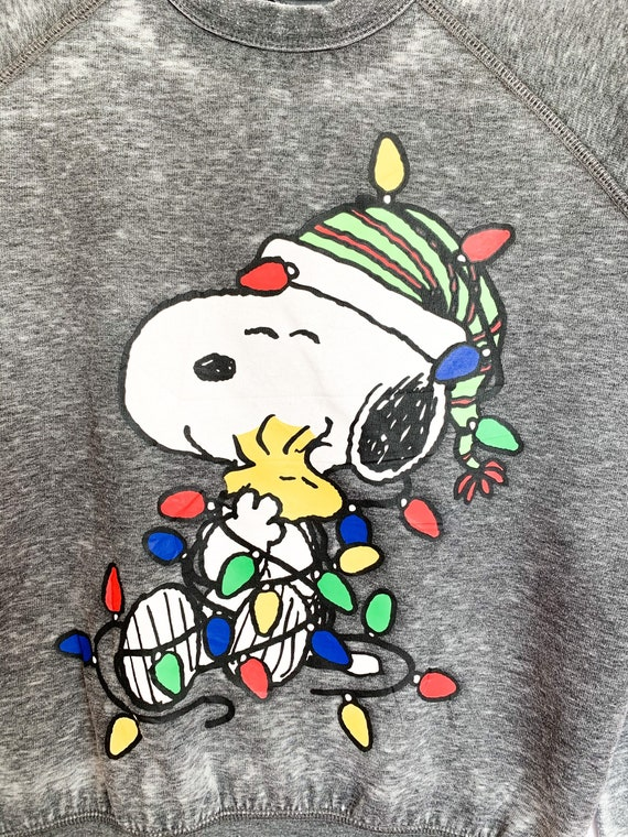 Peanuts Snoopy Merry Christmas Sweatshirt medium … - image 2