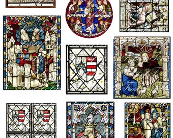 1:12th scale medieval windows