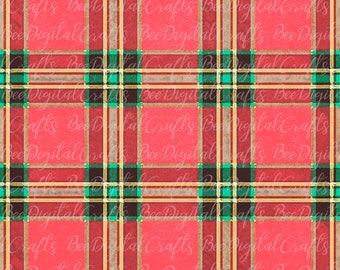 Digital files background green winter 9 Watercolor papers Scottish Buffalo Plaid gift wrapper christmas clipart blue tartan red