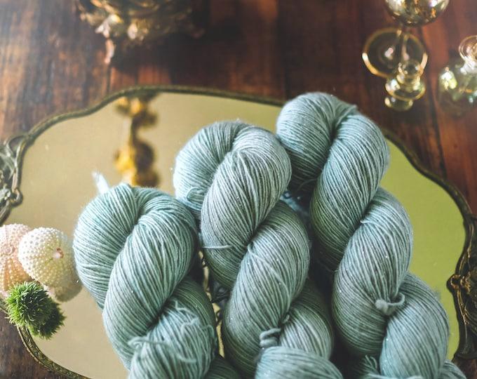 Saltwater Kiss - Glisten - Fingering Weight - 399 Yards - 95/5 Superwash Merino/Stellina - 100 Grams - Hand- Dyed Yarn