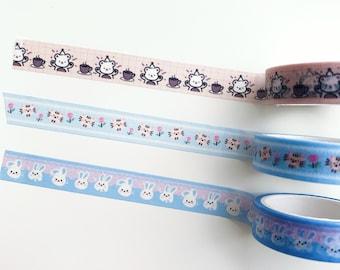 Washi Tape full roll 5 rolls washitape 5m  washi tapecut washi tapecartoon washi tapekawaii washi tapebrand washitape