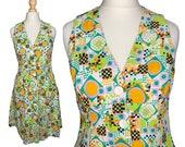 VINTAGE 70's blouse dress - Size S