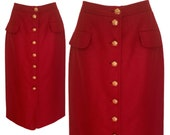 VINTAGE 80's/90's chic skirt - Size M