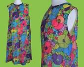 VINTAGE 1960's floral dress