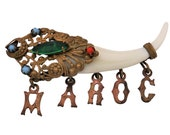 """Gorgeous french VINTAGE """"Maroc"""" brooch - 19th century"""