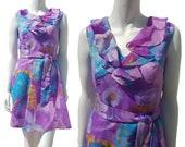 VINTAGE 60's floral dress - Size XS