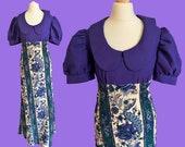 Authentic VINTAGE 1960's bohemian maxi dress