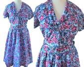 VINTAGE 1950's floral dress - Size S/M