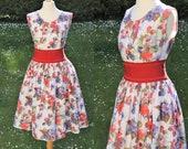 VINTAGE 1950's floral circle dress