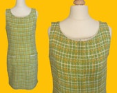 1960's VINTAGE  green  mod dress