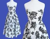 Gorgeous VINTAGE 80's does 50's evening dress