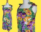 Colorful VINTAGE 1970's floral dress