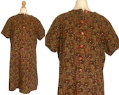 VINTAGE 60's/70's corduroy dress - Size M