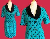 Authentic VINTAGE 1980's polka dots dress