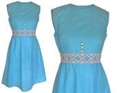 """VINTAGE 60's """"mod"""" dress - Size XS/S"""
