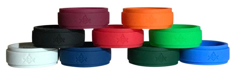 Masonic Ring Silicone, Masonic 9 pack Freemason