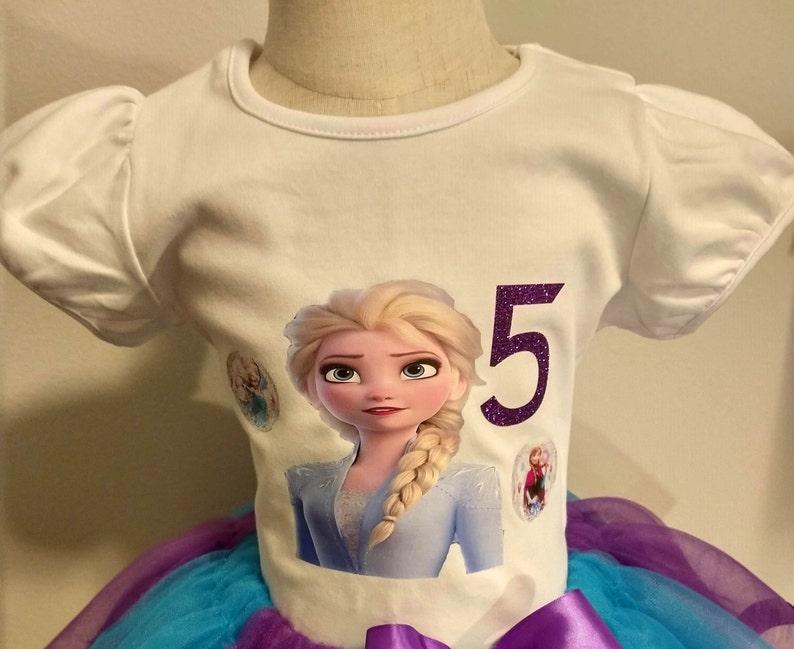 Blue tutu Birthday Frozen Tutu Frozen 2 Outfit birthday shirt Purple Blue frozen outfit 4th Frozen Birthday Tutu Aqua tutu Frozen 2 Tutu