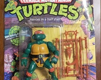 VINTAGE 1991 Playmates Teenage Mutant Ninja Turtles Filecard-Lieutenant Leo