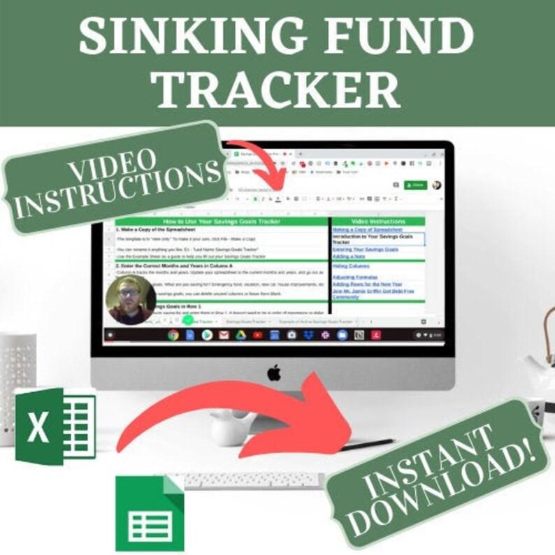 Sinking Fund Tracker  Google Sheets  Saving Money  Sinking image 0