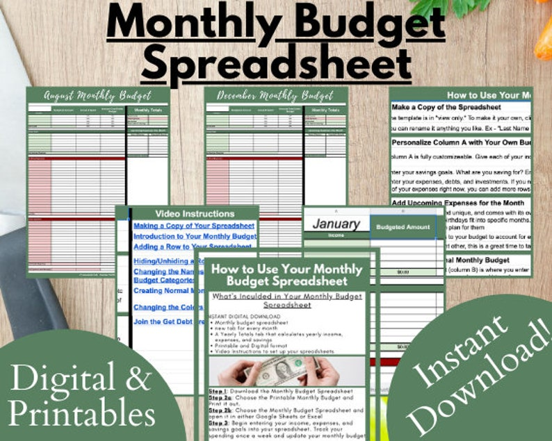 Monthly Budget Spreadsheet Monthly Budget Monthly Budget image 1