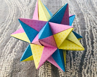 DIY Origami Ball - Christmas Star Ball - Ornament Stellated ... | 270x340