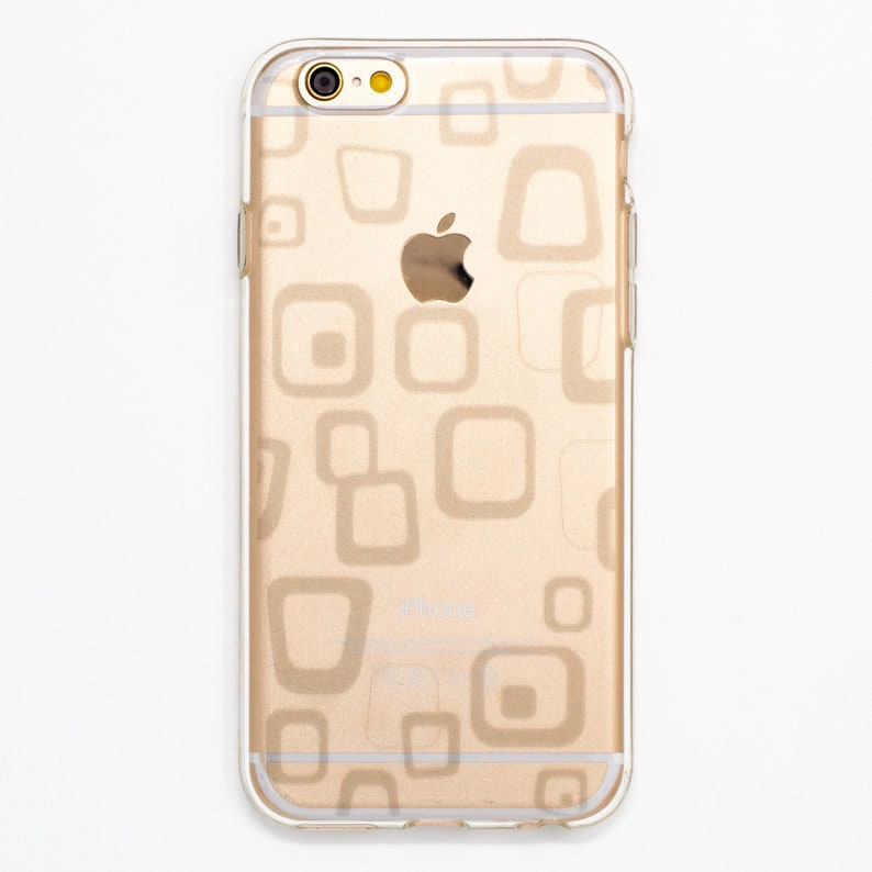 Rough Box Square Soft Clear Case for iPhone 66s