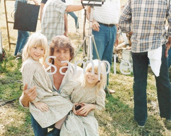 Grace Twins w/Pa - 8x10 Autographed Picture, Little House on the Prairie