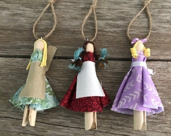 Prairie Doll Christmas Ornament, Little House on the Prairie
