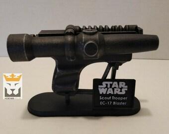 Star Wars Imperial Scout Trooper EC-17 1:1 Scale 3D Printed Replica Blaster Return of The Jedi