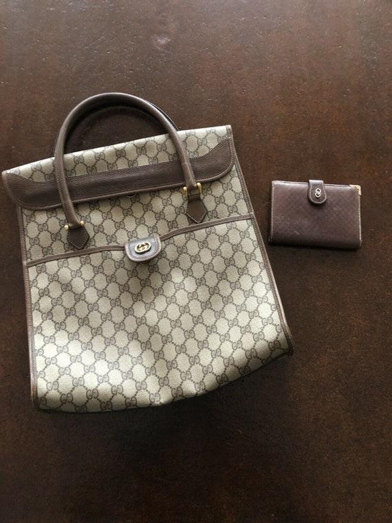 3 piece Vintage Gucci Travel Set - Tote, Wallet, … - image 3